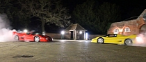Ferrari F50s Clash in Rally Showdown, Tire-Burning Tug of War [Video]