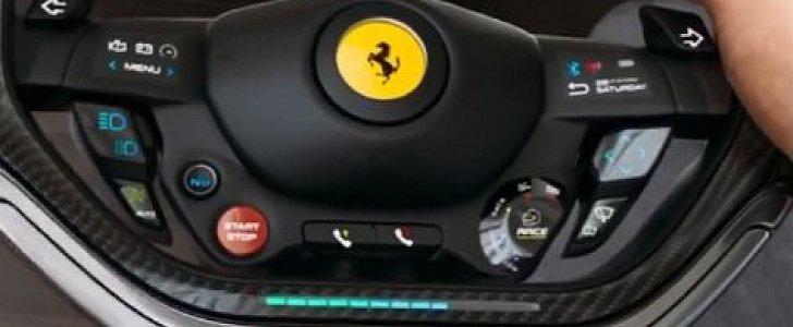Ferrari F8 Digital Steering Wheel Looks Like A Gaming Controller Autoevolution