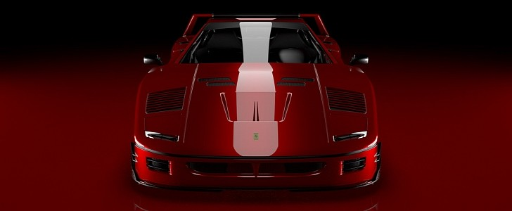 Ferrari Fxx40 Track Only Supercar Rendering Isn T Your Typical F40 Autoevolution