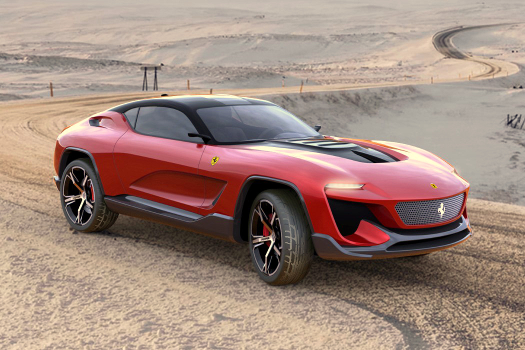 Ferrari Gt Cross Suv Concept Sporty Aesthetic Meets Off Road Capability Autoevolution