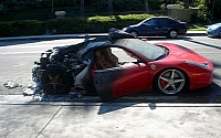 Ferrari 458 Italias keep burning