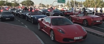 Ferrari Parade Drinks Petrol to UAE's 40th National Day [Video]