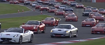 Ferrari Parade: New World Record Set at Silverstone [Video] [Photo Gallery]