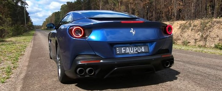 Ferrari Portofino Does 0-100 KM/H Acceleration Test, Looks Stunning in Blue - autoevolution