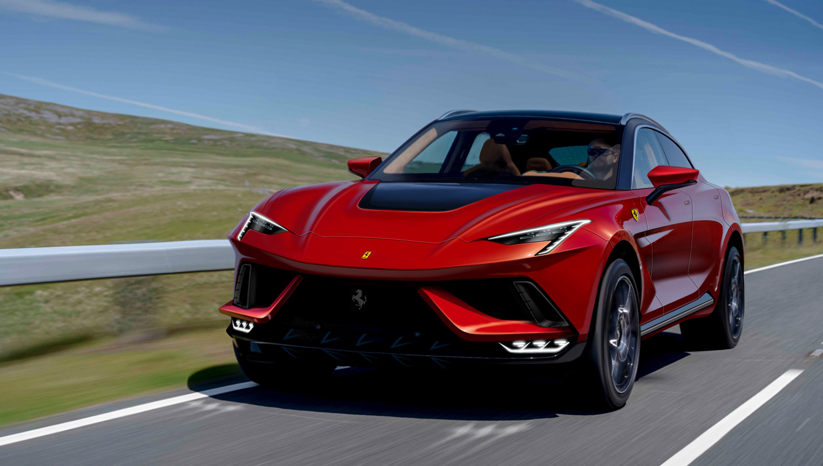 Ferrari Purosangue Rendering Shows Prancing Horse Suv In Lambo Fighting Mode Autoevolution