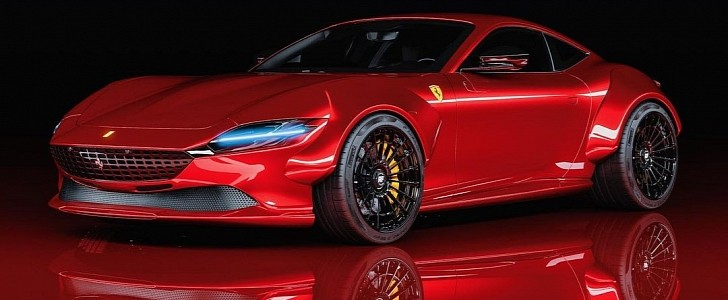 "Ferrari Roma ""Predatore"" Looks Like a Savage Creature in Detailed Rendering  - autoevolution"