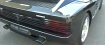 Ferrari Testarossa Crazy Custom Exhaust Sound [Video]