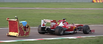 Ferrari Testing F1 Car with... Santa Claus [Video]