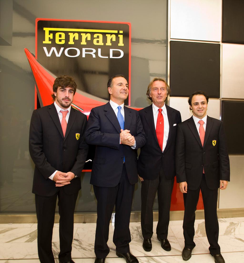 Alonso Ferrari World Ferrari World Abu Dhabi