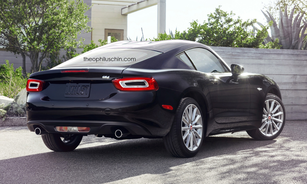 new fiat 124 coupe rendering is the mini viper abarth should build autoevolution. Black Bedroom Furniture Sets. Home Design Ideas