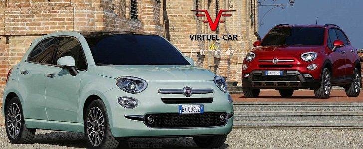 Fiat 500 Cinqueporte Rendering Previews Future 5 Door