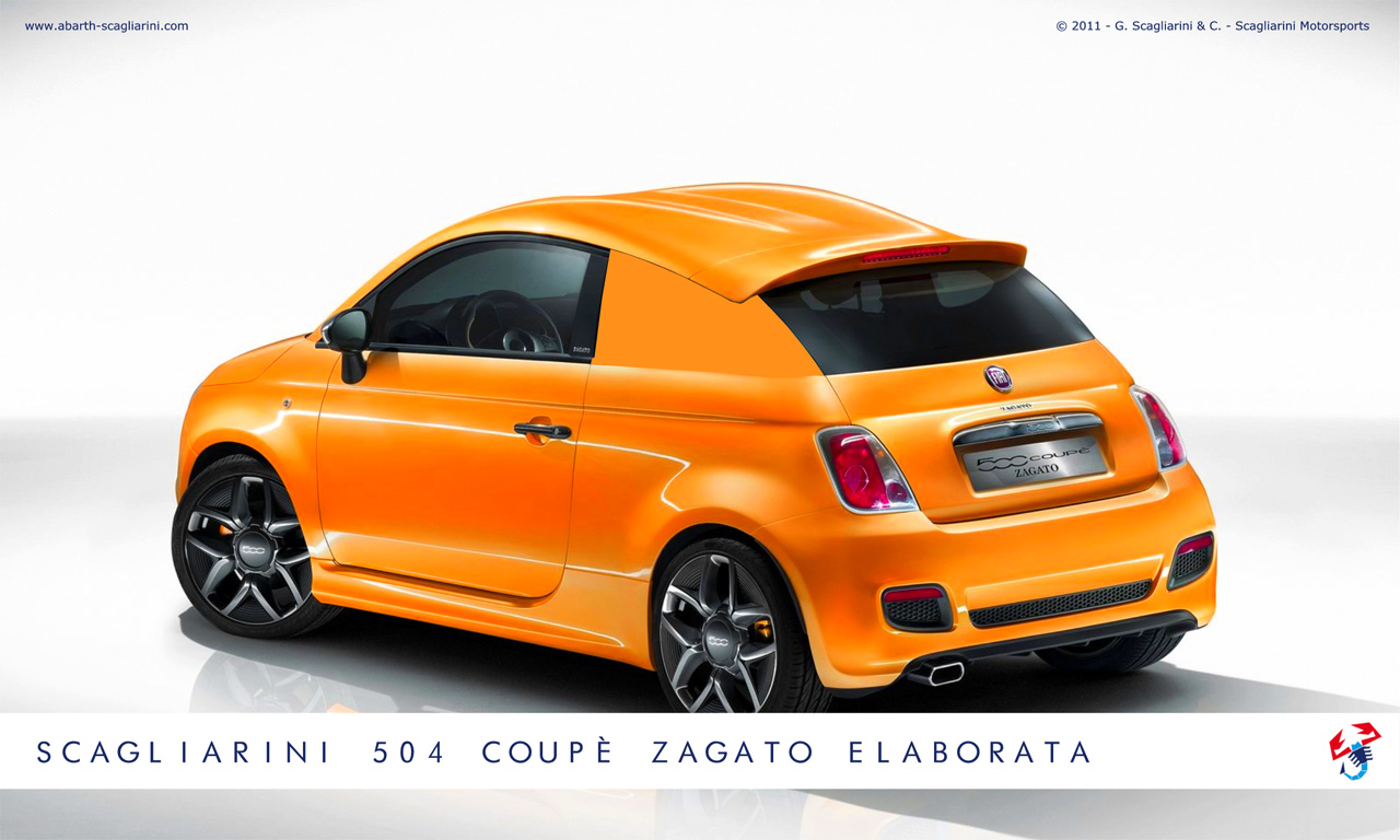 fiat 500 coupe zagato elaborata by scagliarini motorsports autoevolution. Black Bedroom Furniture Sets. Home Design Ideas