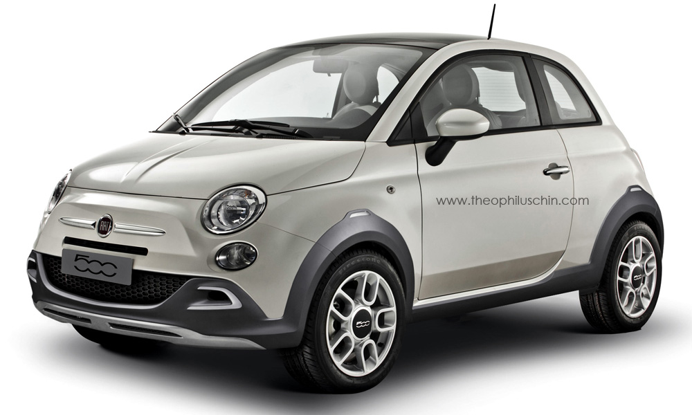fiat 500 crossover looks nice will never happen. Black Bedroom Furniture Sets. Home Design Ideas