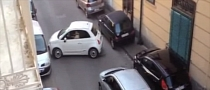 Fiat 500 Driver Turns Italian Street into Hollywood Drama [Video]