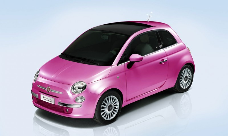fiat 500 pink limited production version autoevolution. Black Bedroom Furniture Sets. Home Design Ideas