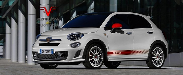 fiat 500x abarth rendering shows upcoming hot crossover. Black Bedroom Furniture Sets. Home Design Ideas