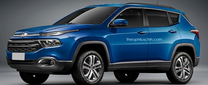 Fiat Freemont Replacement Rendering Combines Toro Truck and Jeep Compass