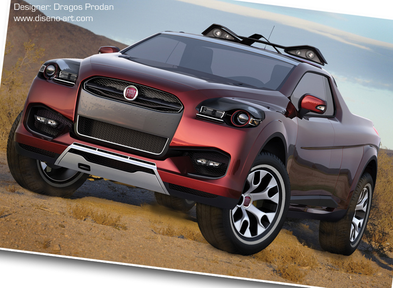 fiat sentiero concept italian pick up for the us autoevolution. Black Bedroom Furniture Sets. Home Design Ideas