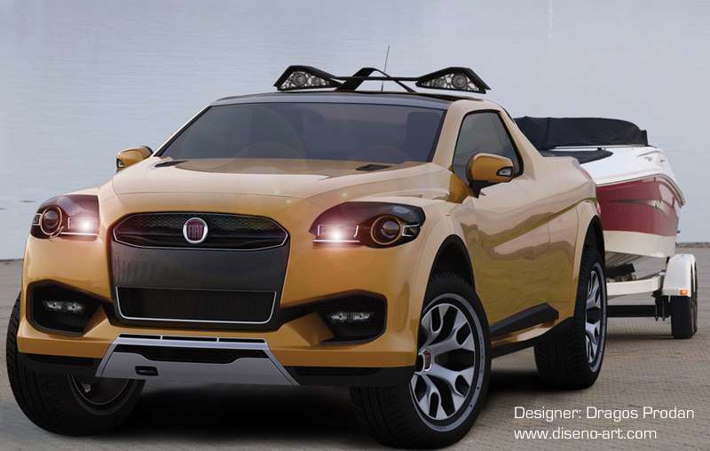 fiat sentiero concept italian pick up for the us. Black Bedroom Furniture Sets. Home Design Ideas