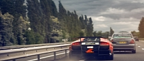 Fiery Exhaust Lamborghini Shows How Not to Overtake