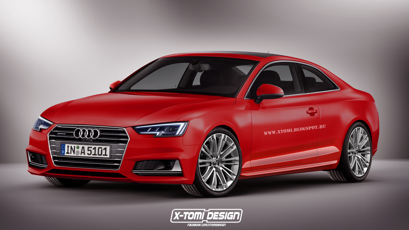 first 2017 audi a5 coupe rendering emerges based on new. Black Bedroom Furniture Sets. Home Design Ideas