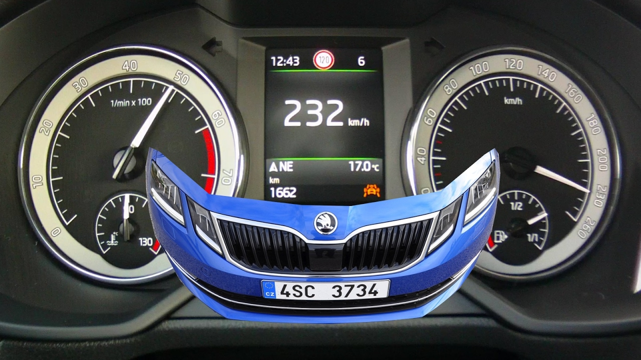 First 2017 skoda octavia acceleration test ugly but fast