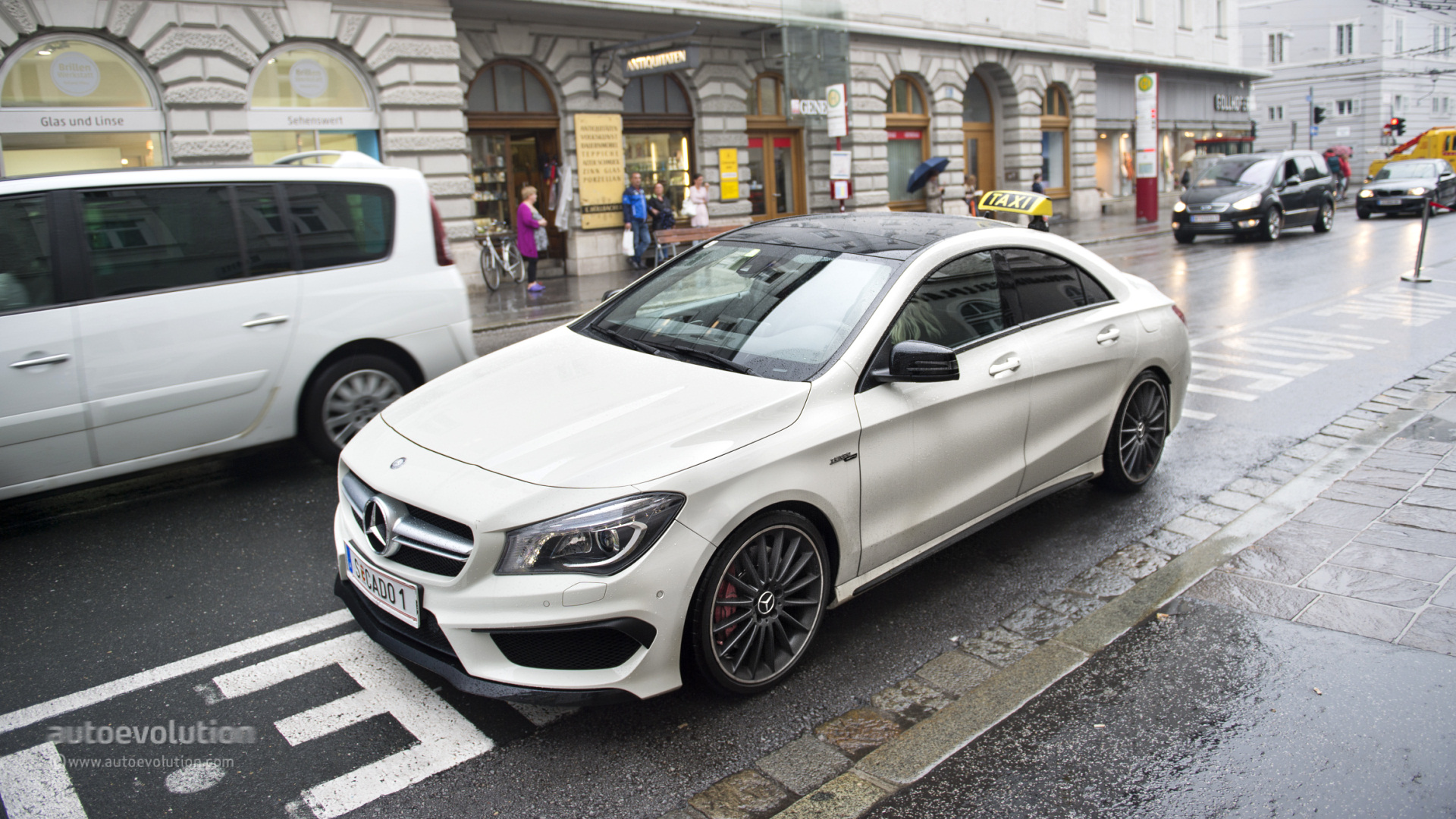 first cla 45 amg taxi is owned and driven by a woman updated. Black Bedroom Furniture Sets. Home Design Ideas
