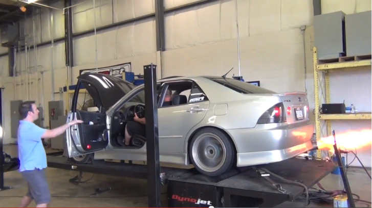 First Generation Lexus IS Spits Flames on Dyno [Video]