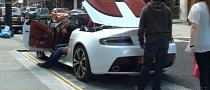 Aston Martin V12 Vantage Roadster in London [Video]