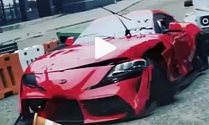 First Toyota Supra Crash Is Actually Fake