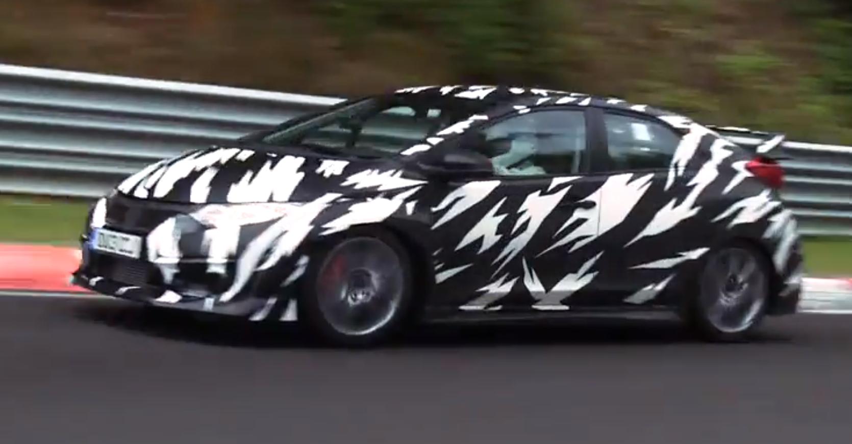 First Honda Civic First Video of 300 hp Honda