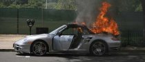 Flaming Porsche in New Jersey
