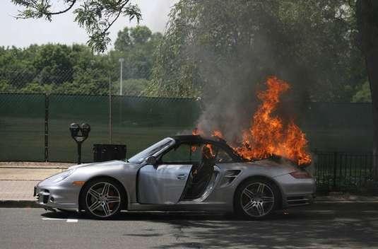 Flaming Porsche In New Jersey Autoevolution