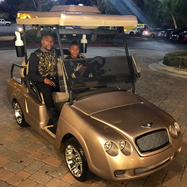 Floyd Mayweather Buys Bentley Golf Cart For Son Koraun