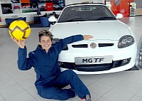 Sue Smith and her new MG TF