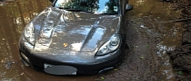 Footballer Gets Porsche Panamera Stuck in Muddy Woods By Blindly Following Navigation