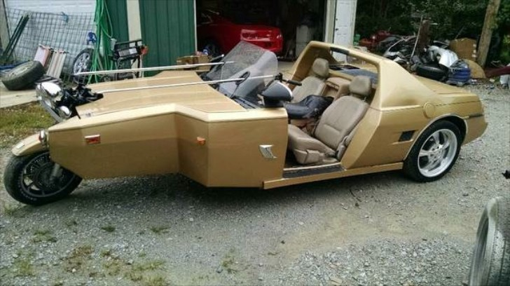 For Sale Pontiac Fiero With Honda Goldwing Front End