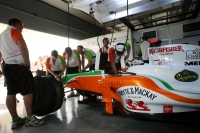 Force India garage