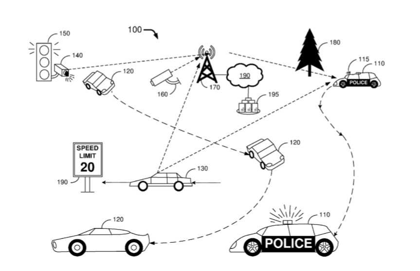 Ford has been granted a patent for intelligent, autonomous police cars