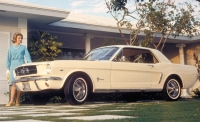 1964 Ford Mustang white coupe