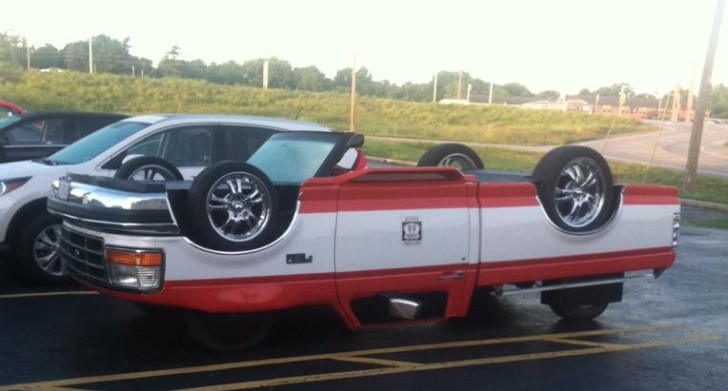 Ford F 150 Converted To Drive Upside Down Is Australian