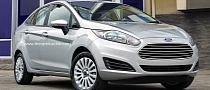 Ford Fiesta Sedan Facelift Rendering
