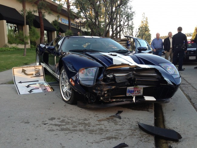 Ford GT Crashed in California
