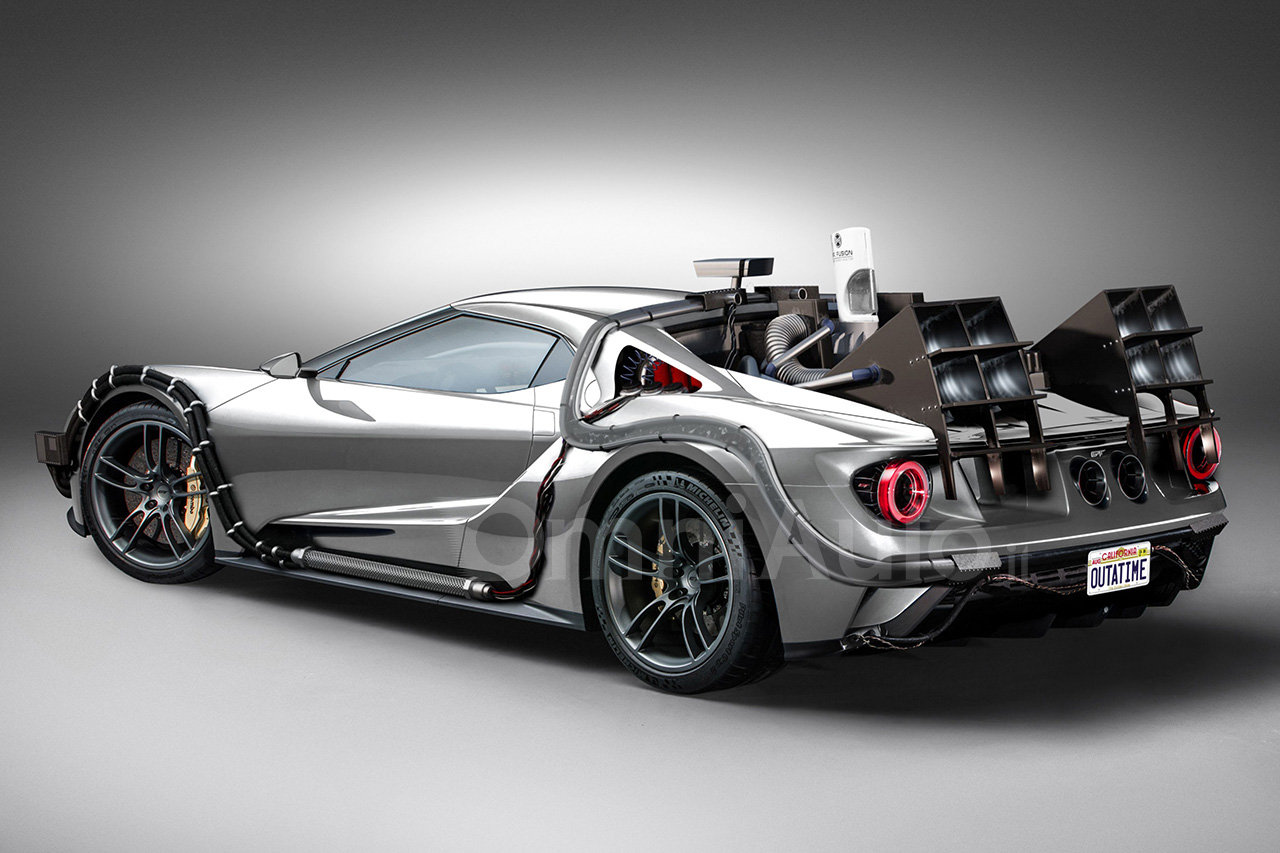 Ford Gt Is Turned Into A Bttf Time Machine Just For The Sake Of It