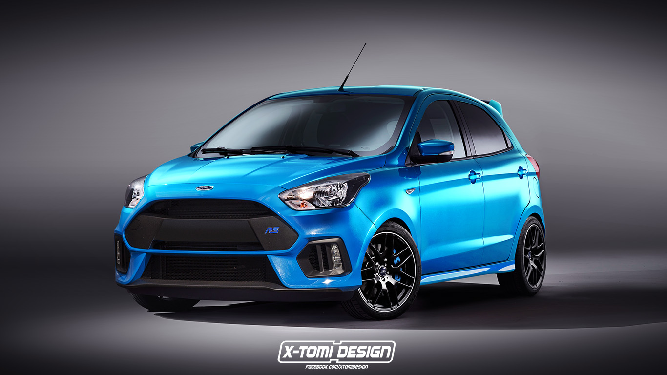 Ford ka rs rendering looks like an epic little hooning machine autoevolution