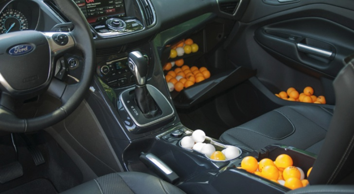 ford measures escape interior in ping pong balls autoevolution. Black Bedroom Furniture Sets. Home Design Ideas