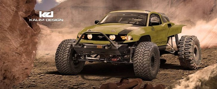 Ford Mustang Baja Racer Rendered As the Latest Jportscar (Jacked-Up Sportscar)