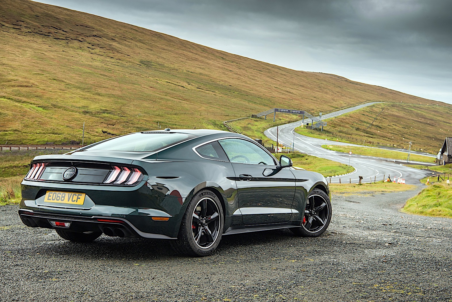 Ford Mustang Bullitt Roars on the No-Speed Limit Isle of Man