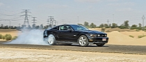 Ford Mustang Burnout in the Desert