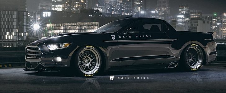 Ford Mustang Pickup Truck Rendered As Modern Day Mustang